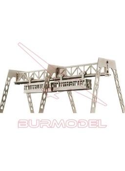 Maqueta de madera para montar un tren