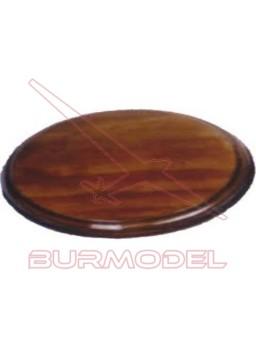 Peana oval de haya. Medidas 29x18 cm