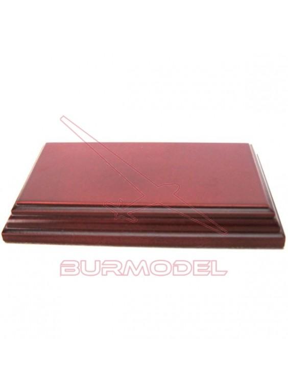 Peana de haya rectangular. Medidas 16x9 cm