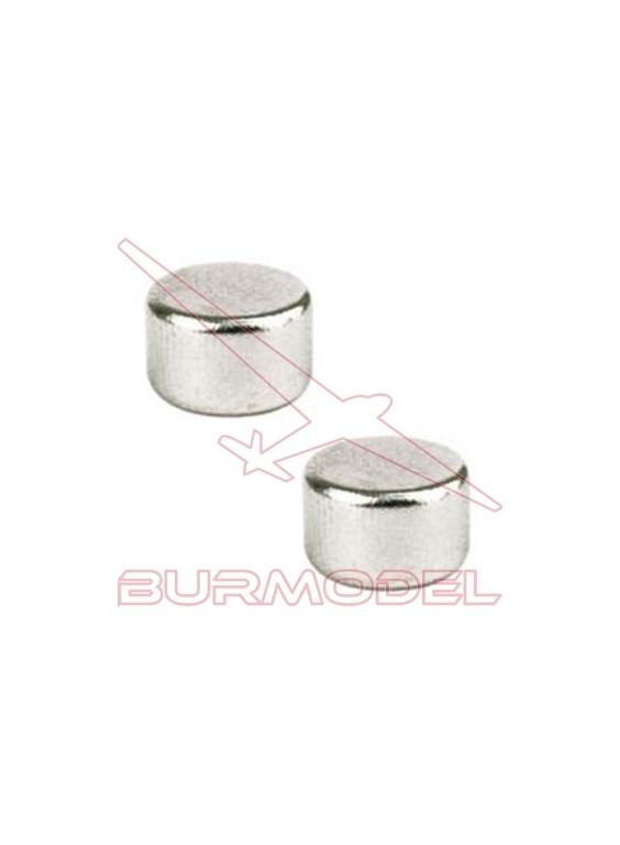Imán cilindrico 8x5 (1.500 GM) 2 unds
