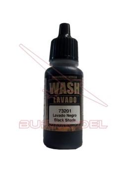 Lavado de Vallejo color negro