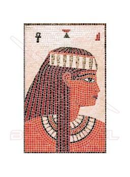 Mosaico Cleopatra con piezas cerámicas