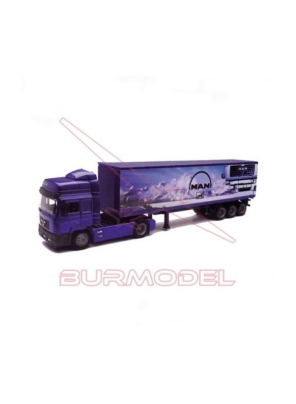 Camión Man F2000 40' Cont.1/43