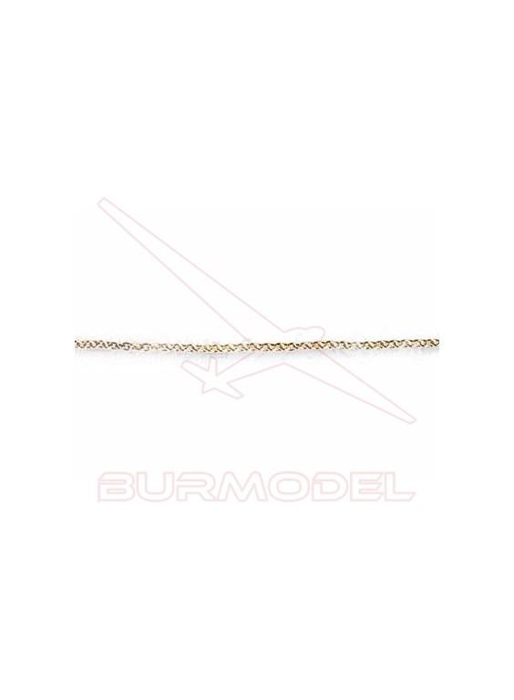 Cadena latón 0,5mm (0,5m)