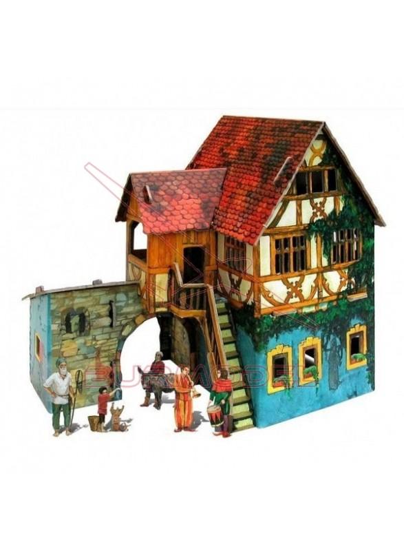 Maqueta papel casa de pescadores