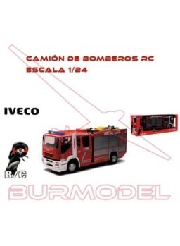 Camión bomberos RC Iveco Stralis. Escala 1/24
