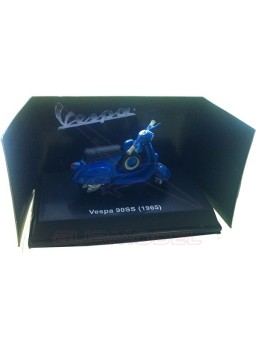 Maqueta montada Vespa 90SS (1965) azul 1/32