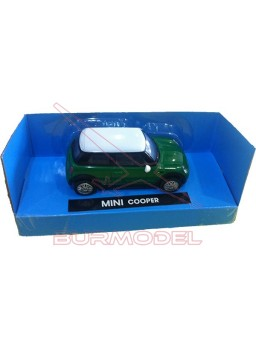 Maqueta montada Mini Cooper color verde. 1/43