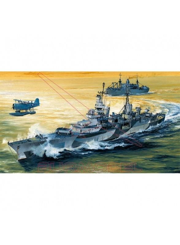 Maqueta portaaviones USS Indianapolis CA-35 1944
