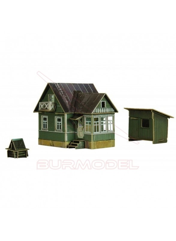 Construcción de papel Casa Campo