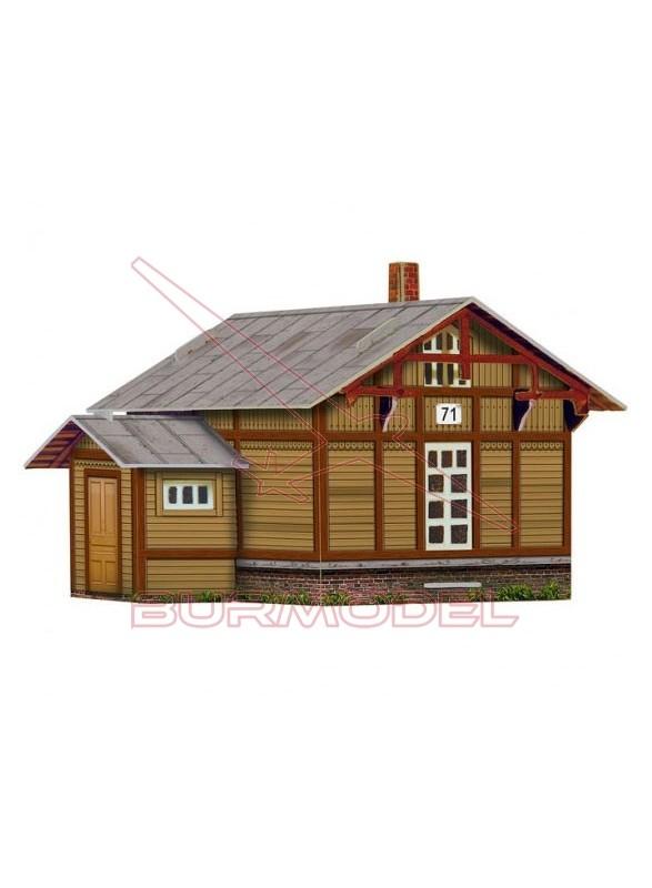Maqueta casa Vigia de madera. Escala 1/87