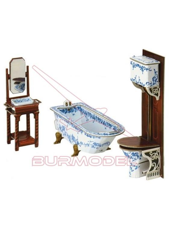 Cuarto de baño para casitas de muñecas