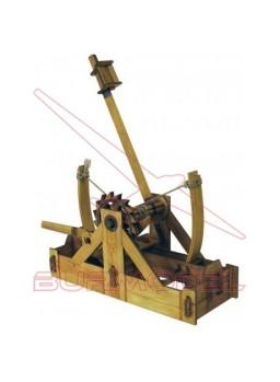 Maqueta para montar en papel Catapulta