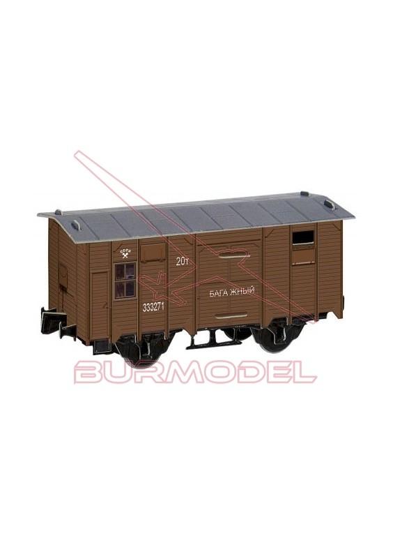 Vagón de equipajes para montar en papel