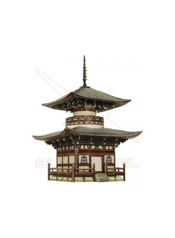 Maqueta papel Templo de Honpo-Ji (Japón)