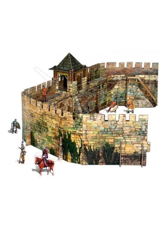 Maqueta de papel para montar una muralla