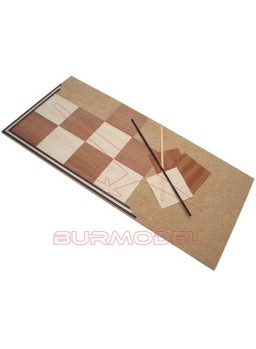 Maqueta madera para montar tablero de ajedrez