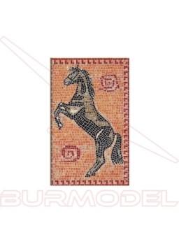 Mosaico caballo. Medidas lienzo 535x345mm.