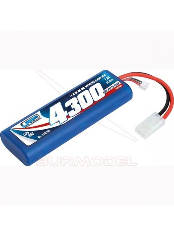 Batería 7,4v lipo 4300 31.8Wh 30C