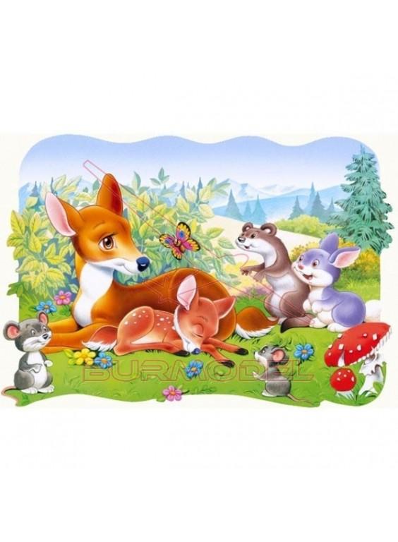 Puzzle infantil 30 piezas. Bambi.