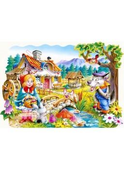 Puzzle infantil 20 piezas Caperucita roja