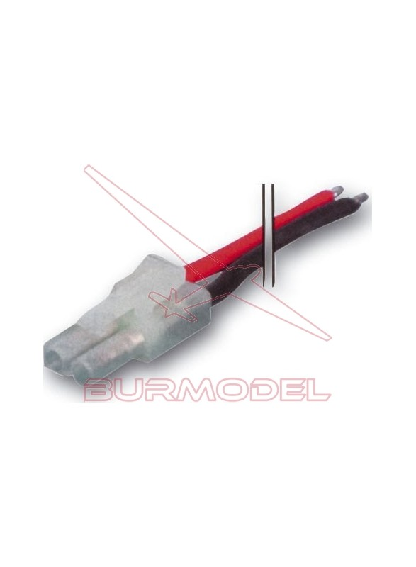 Conector tamiya mini macho con cable