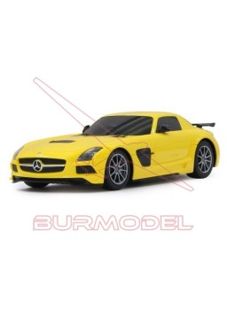 Mercedes SLS AMG BS rc 1:18 27MHz amarillo