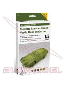 Colores vallejo verde ruso moderno