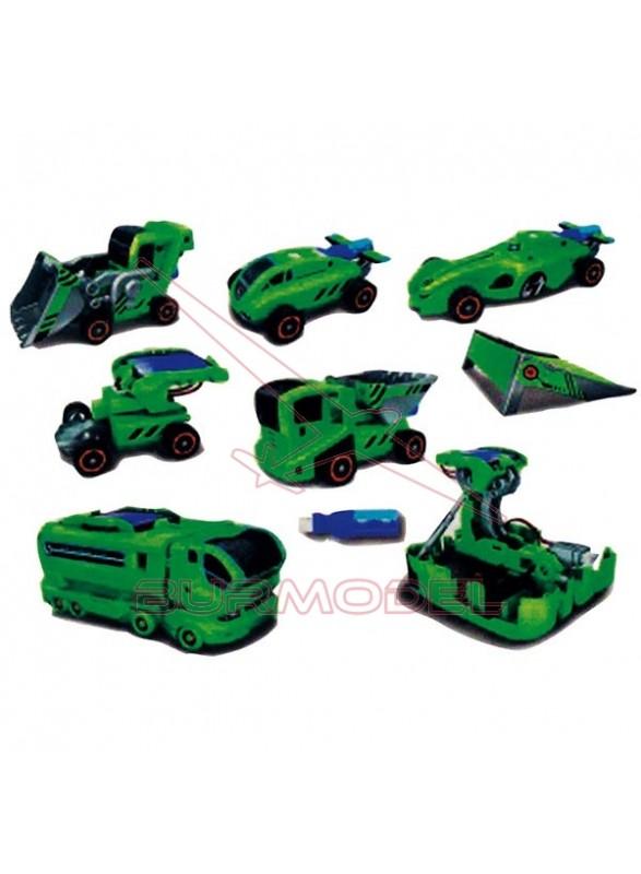 Juego solar 6 en 1 color verde