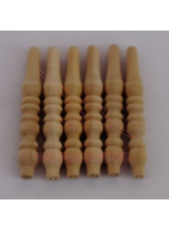Barrotes torneados 3,6 x 0,5 cm (8unds)