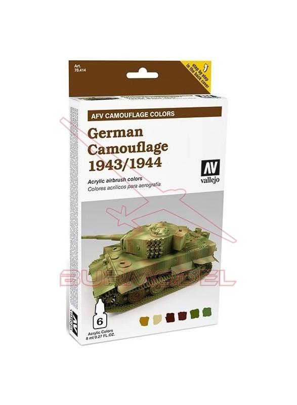 Estuche Vallejo German camuflaje 1943-1944