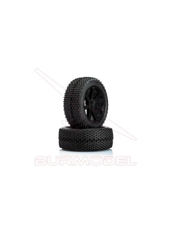 Neumático delantero con llanta 1/10 S10 Blast