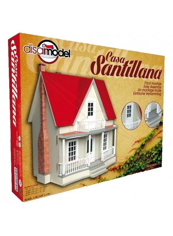 Casa Santillana en kit para pintar. Escala 1/12