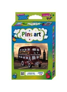 Maqueta para montar con lentejuelas el London Bus