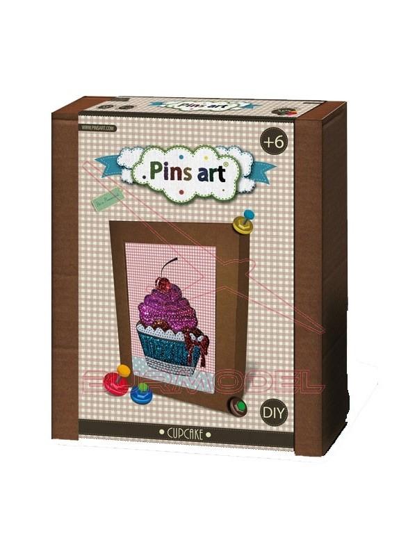 Construcción creativa Pins Art Cupcake