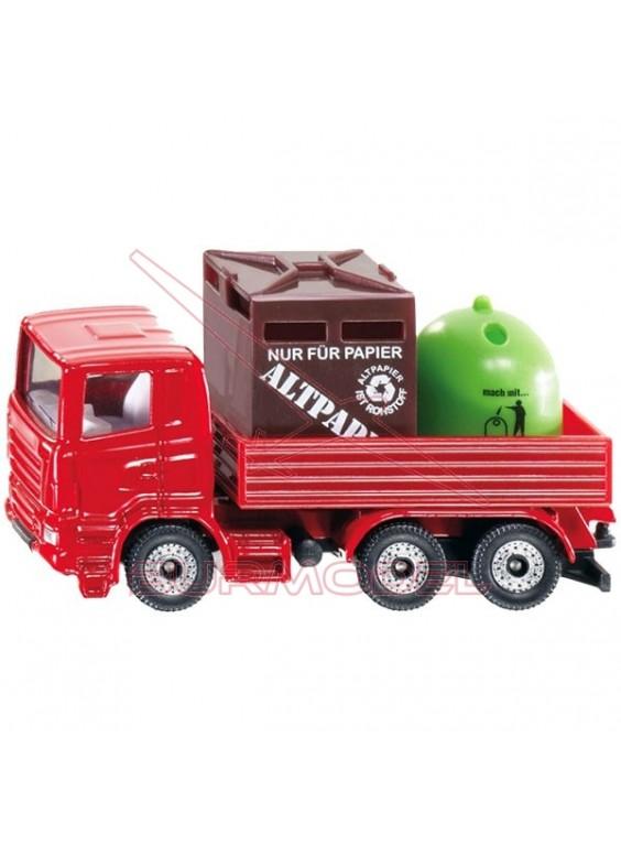 Maqueta SIKU. Camion con contenedores.