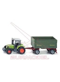 Maqueta SIKU tractor con remolque