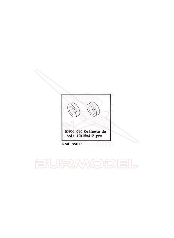 Rodamiento de bola 10x15x4 (2 unidades)