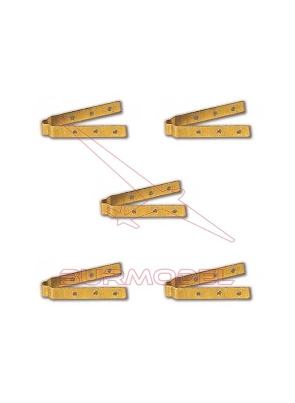 Bisagras para timón 30 mm (6 uds)
