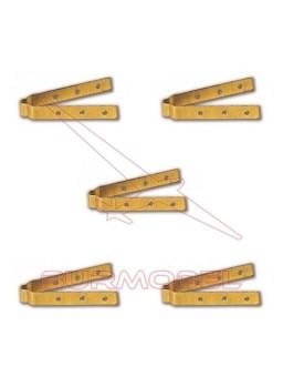 Bisagras para timón 20 mm (12 uds)