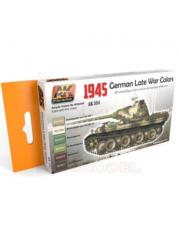 Set de colores alemanes II Guerra Mundial 1945