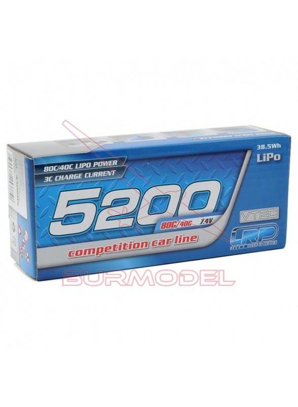 Batería 7,4V-5200mAh LiPo 80/40C C.dura
