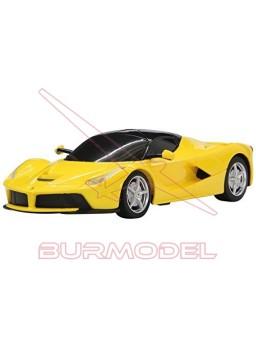 Ferrari LaFerrari amarillo. Escala 1/24. Coche RC