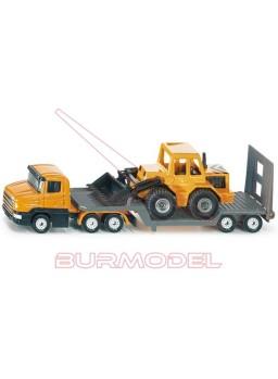 Camión con maquinaria de carga frontal