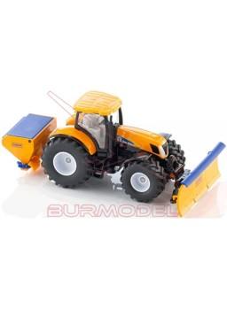 Tractor quitanieves SIKU con expendedor de sal.