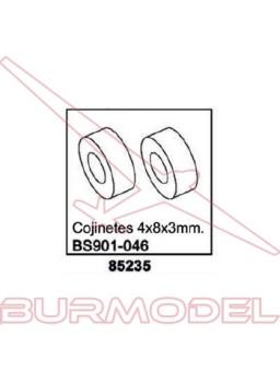 Rodamientos 4X8X3mm . Casquillo 85311