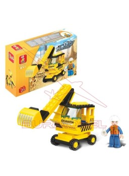 Maqueta para montar excavadora