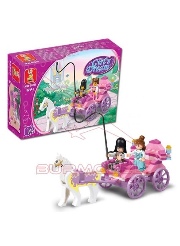 Maqueta de plástico para montar princesa con carru