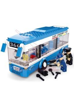 Kit de montaje infantil autobús Sluban Town
