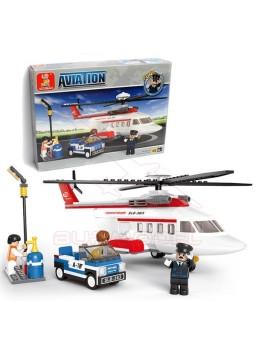 Kit infantil para montar helicóptero